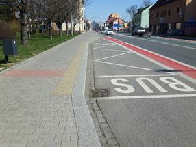 Rekonstrukce chodníků a zřízení cyklistických pruhů Náchod – I. a II. etapa